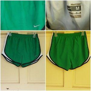 Nike Dri Fit green running shorts